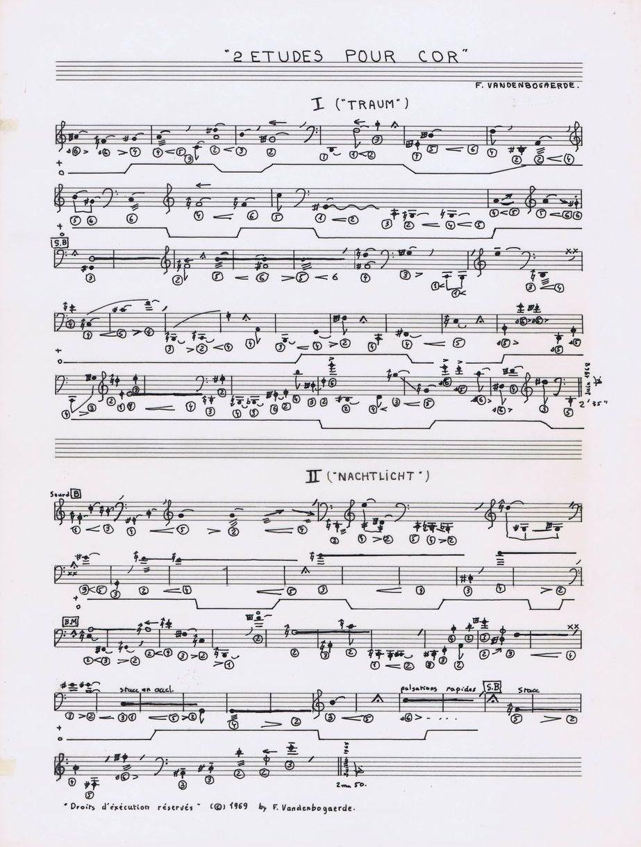Deux études pour cor