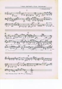 Trois instants pour trombone